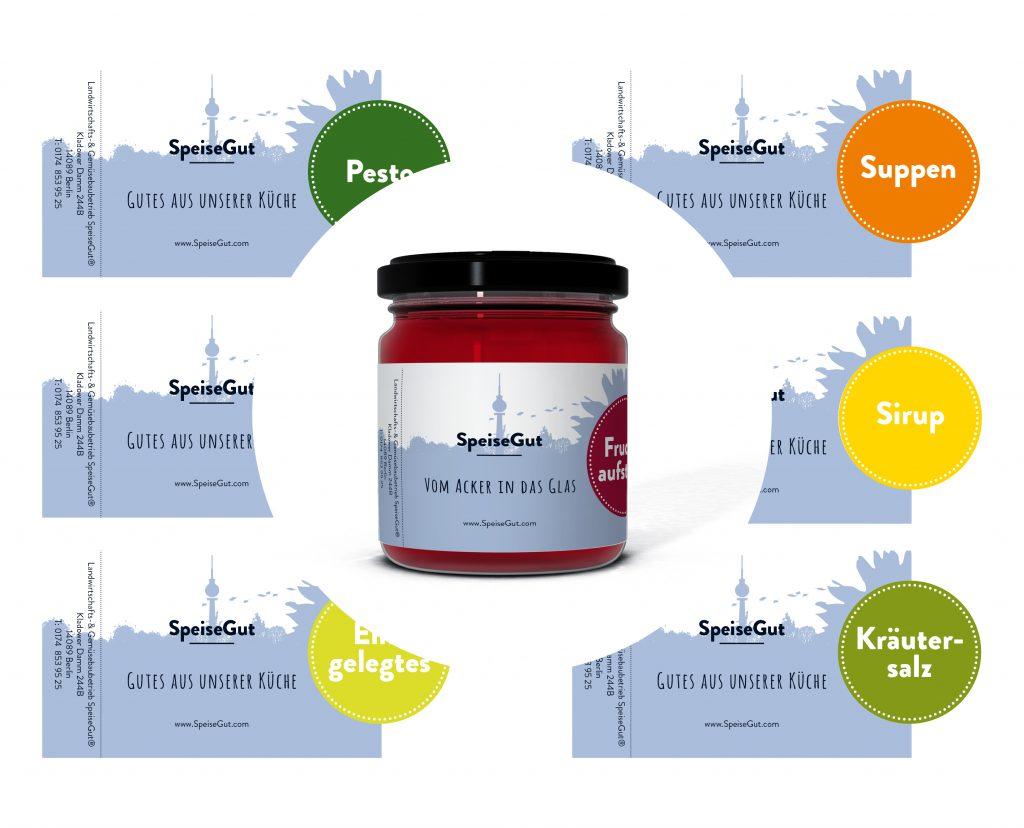 Etiketten Zusatzprodukte Firma SpeiseGut Berlin